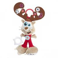 Babymoov activity cuddly toy reindeer with Rattle, crinkle paper, mirror and velvet