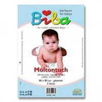 Biba Kid Moltontuch 2er Pack Weiß 80 x 80 cm
