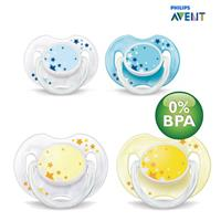 Philips Avent SCF176/18 2 Stück Night-Time Soothers 0-6m, BPA-Free