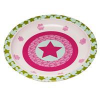Lässig Kinderteller Dish Plate Melamine/Silicone Starlight Magenta