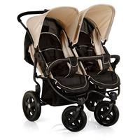Hauck Roadster Duo SLX Double Buggy Caviar-Almond