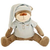 Babiage Doodoo Bär Plüschtier Einschlafhilfe für Babys, Blau