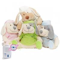 Babiage Doodoo Plush Dog sleep aid for baby, selectable color