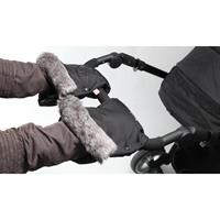 Kiddy Mix'n Match Handmuff mit Fell Racing Black Detailansicht 01