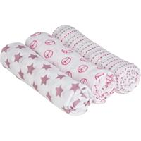 Lässig 4Kids Mulltuch 85x85 3er Set Sweet Dreams Girls
