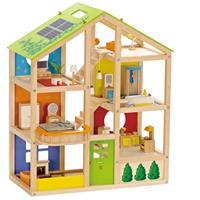 Hape Vier-Jahreszeiten Haus (möbliert) Puppenhaus