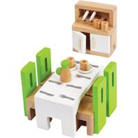 Hape wooden dining for dollhouse