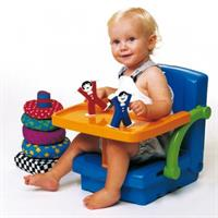 KidsKit Hi Seat - mitwachsende Sitzerhöhung blau/orange/grün