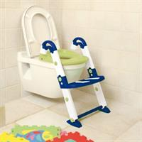 KidsKit Toilettentrainer 3-in-1 WC-Sitz Potty Leiter with WC-Sitz Blue
