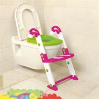 KidsKit Toilettentrainer 3-in-1 WC-Sitz Potty Leiter with WC-Sitz pink