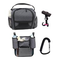 Altabebe Picknick Set incl. Buggy Hooks, Lunchbox, Carabiner hook & Backrest Bag