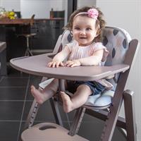 Babymoov Hochstuhl Light Wood Taupe | Sitzkissen separat erhältlich