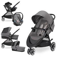 Cybex Agis M-Air 3 Trio Set mit Kinderwagen Wanne Babyschale Aton 5 2017 Manhattan Grey
