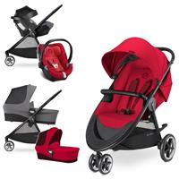 Cybex Agis M-Air 3 Trio Set mit Kinderwagen Wanne Babyschale Aton 5 2017 Infra Red