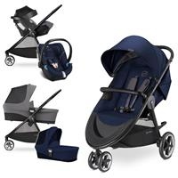Cybex Agis M-Air 3 Trio Set mit Kinderwagen Wanne Babyschale Aton 5 2017 Midnight Blue
