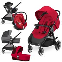 Cybex Agis M-Air 4 Trio Set mit Kinderwagen Wanne Babyschale 2017 Infra Red