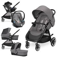 Cybex Agis M-Air 4 Trio Set mit Kinderwagen Wanne Babyschale 2017 Manhattan Grey