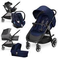 Cybex Agis M-Air 4 Trio Set mit Kinderwagen Wanne Babyschale 2017 Midnight Blue