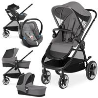 Cybex Balios M Trio Set mit Kinderwagen Wanne Babyschale 2017 Manhattan Grey