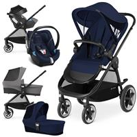 Cybex Balios M Trio Set mit Kinderwagen Wanne Babyschale 2017 Midnight Blue