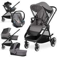 Cybex Iris M Trio Set mit Kinderwagen Wanne Babyschale 2017 Manhattan Grey