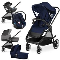 Cybex Iris M Trio Set mit Kinderwagen Wanne Babyschale 2017 Midnight Blue