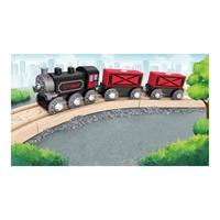 Hape Holzeisenbahn Dampf-Frachtzug