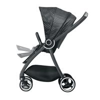 gb MARIS PLUS | Kinderwagen Lux Black | Verstellbare Fussstuetze