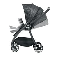 gb MARIS PLUS | Kinderwagen Lux Black | Verstellbare Rueckenlehe