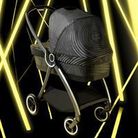 gb MARIS PLUS | Kinderwagenaufsatz Babywanne | Lux Black | Glamuroeser Auftritt