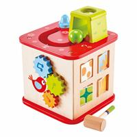 Hape E1812 Pepe Friends Activity Cube back 2