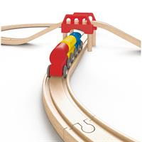 Hape E3700 Railway Set Acht 8 Zug Holz Eisenbahn 02