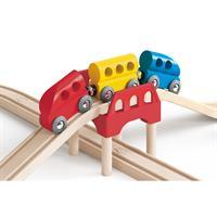 Hape E3700 Railway Set Acht 8 Zug Holz Eisenbahn 04