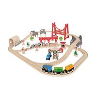 Hape E3712 Double Loop Railway Set 0
