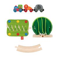Hape E38HauptbildA Jungle Train Journey Set Dschugel 01