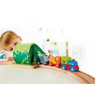 Hape E38HauptbildA Jungle Train Journey Set Dschugel 06