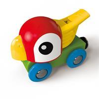 Hape E3808 Holz Eisenbahn Pfeifende Papageienlok 02