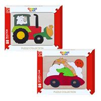 Hape Colored Vehicles - Wooden Puzzle