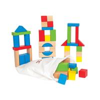 Hape colorful Wooden Blocks 50 pcs
