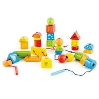 Hape Colorful Thread Blocks with String