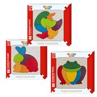 Hape Rainbow Animals as Wooden Puzzle