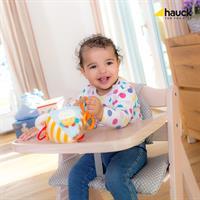 Hauck Beta Plus Treppen Hochstuhl Buche 663103 White washed Mit Baby