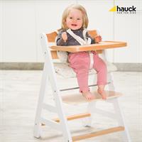 Hauck Beta Plus Treppen Hochstuhl Buche 663158 White Natur mit Maedchen