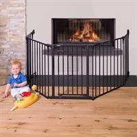 Hauck Kaminschutz Fireplace Guard XL mit Wandbefestigung 597057 Anwendungsbeispiel