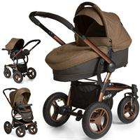 hauck King Air Plus Trio Set 2017 Kinderwagen mit Tragewanne & Babyschale 0+