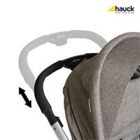 Hauck King Air Plus Trio Set Kombikinderwagen mit Babyschale 2017 melange grey Hoehenverstellbarer S