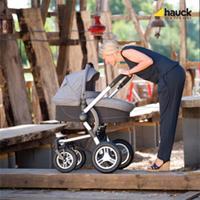 Hauck King Air Plus Trio Set Kombikinderwagen mit Babyschale 2017 melange grey Lifestyle Kombikinder