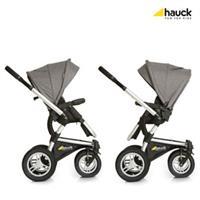Hauck King Air Plus Trio Set Kombikinderwagen mit Babyschale 2017 melange grey Umsetzbare Sitzeinhei
