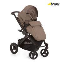 Hauck Maxan4 Plus Trio Set Kombikinderwagen mit Babyschale 2017 melange sand Mit Beindecke