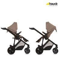 Hauck Maxan4 Plus Trio Set Kombikinderwagen mit Babyschale 2017 melange sand umsetzbare Sitzeinheit